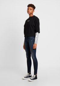 Converse - CREW DOUBLE SLEEVES ALL STAR - Sweatshirt - black/boston melange - 1