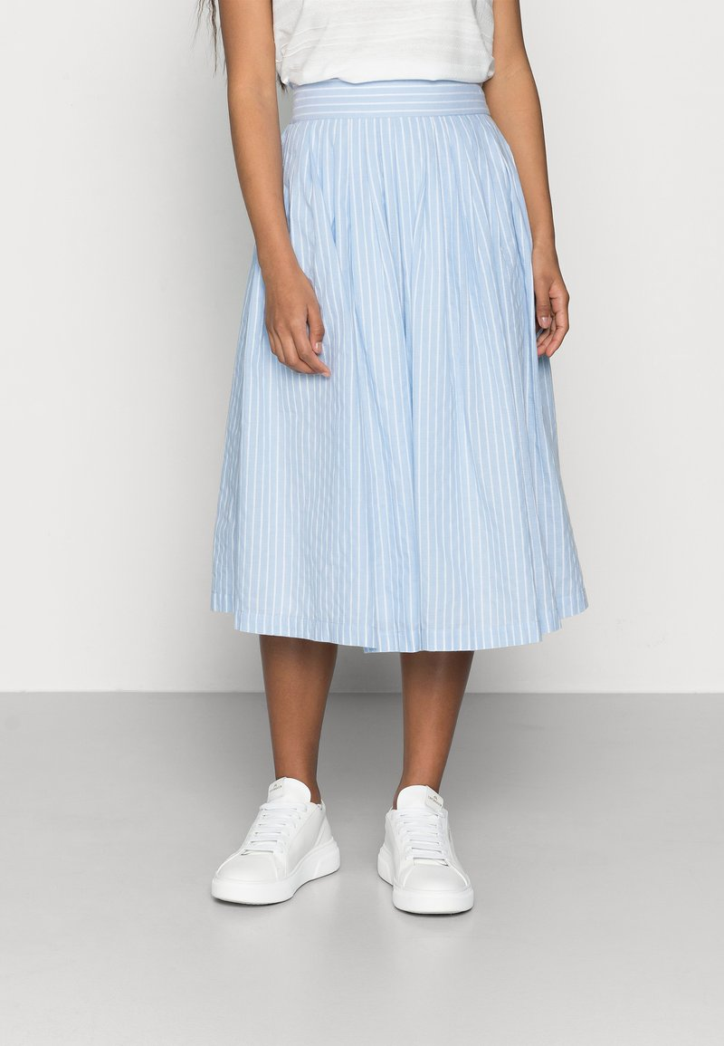 YAS Petite - YASSTRILLA  MIDI SKIRT - A-line skirt - cashmere blue