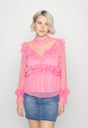 MATERNITY RUFFLE - Long sleeved top - pink