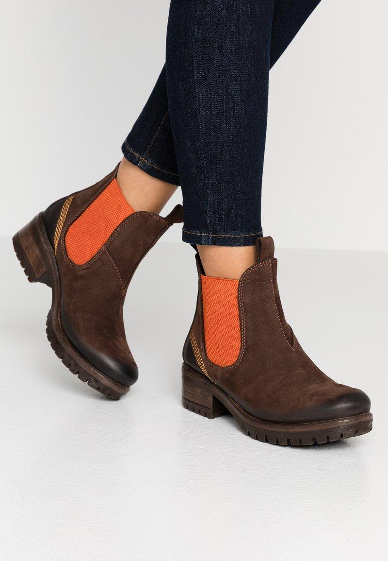 Lazamani - Ankle Boot - brown/orange