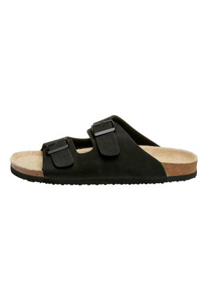 BROWN TWO BUCKLE SANDAL - Tofflor & inneskor - black