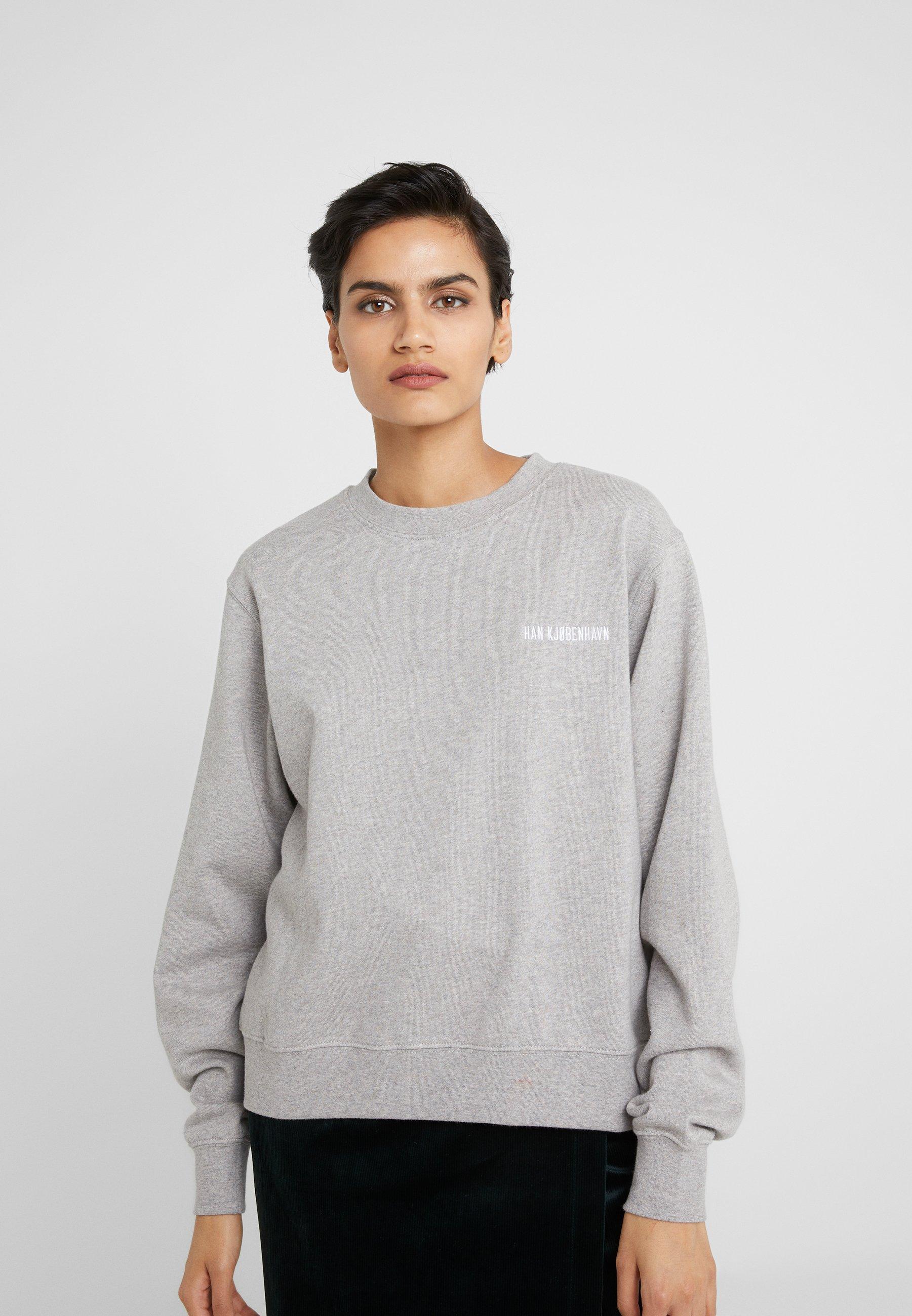 Women BULKY CREW - Sweatshirt - grey melange