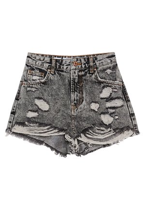 MIT RISSEN - Denim shorts - grey