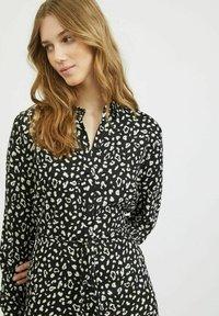 Vila - Shirt dress - black - 3