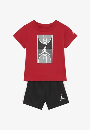 COURT GRAPHIC TEE SET - Sports shorts - black