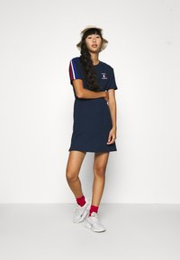 adidas Originals - STRIPES SPORTS INSPIRED REGULAR DRESS - Jersey dress - collegiate navy - 1
