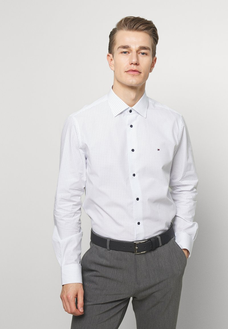 Tommy Hilfiger Tailored - DOT PRINT CLASSIC - Shirt - white