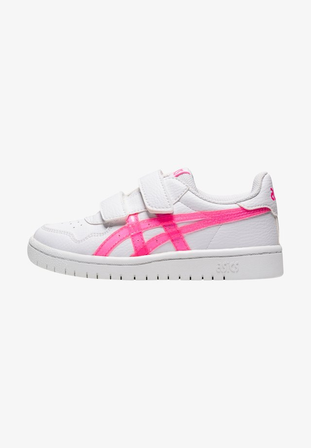 Touch-strap shoes - white/hot pink