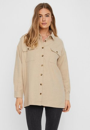 Button-down blouse - white pepper