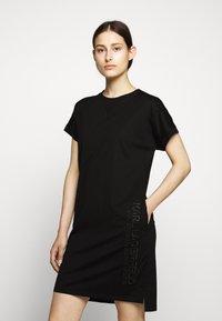 KARL LAGERFELD - ADDRESS DRESS - Vestido ligero - black - 0