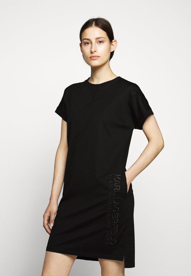 KARL LAGERFELD - ADDRESS DRESS - Vestido ligero - black