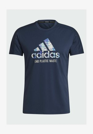 RUN FOR THE OCEANS GRAPHIC - T-shirts print - blue
