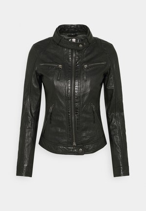 HOLA - Leather jacket - black