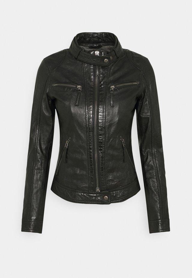 HOLA - Leather jacket - black