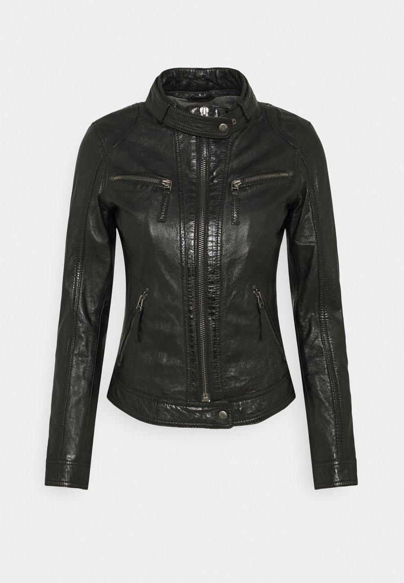 Oakwood - HOLA - Leather jacket - black
