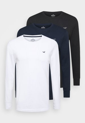 CREW MULTI 3 PACK - Pyžamový top - white/dark blue/black
