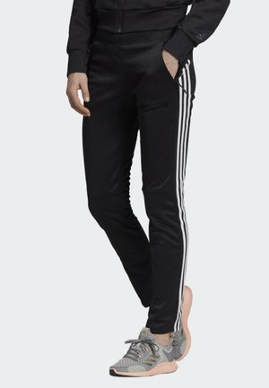 ID 3-STRIPES SKINNY JOGGERS - Tracksuit bottoms - black