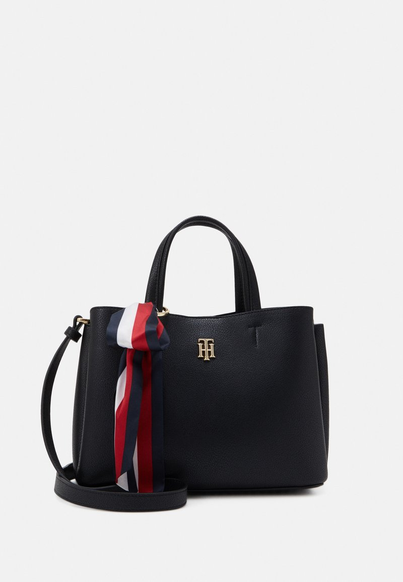 Tommy Hilfiger - CHARMING SATCHEL - Torebka - black