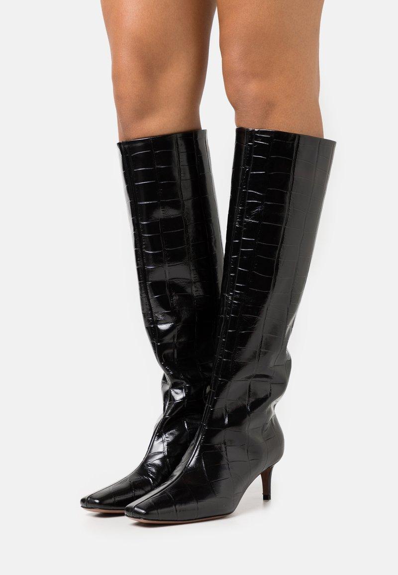 L'Autre Chose - BOOT NON ZIP - Stivali alti - black