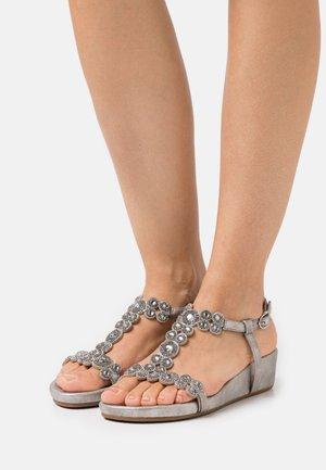 Wedge sandals - lisboa pewter