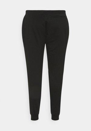 PLUS MICRO BRANDING PANT - Teplákové kalhoty - black