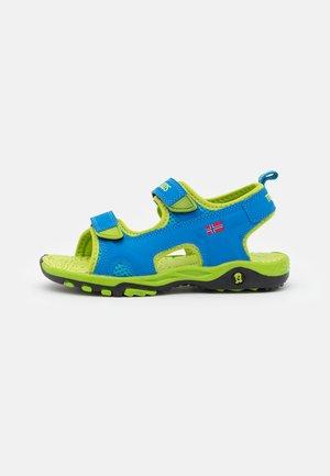 KIDS ORRESTRAND UNISEX - Walking sandals - medium blue/lime