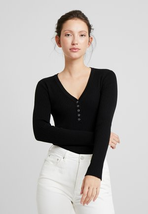 ALESIA JUMPER - Strikkegenser - black