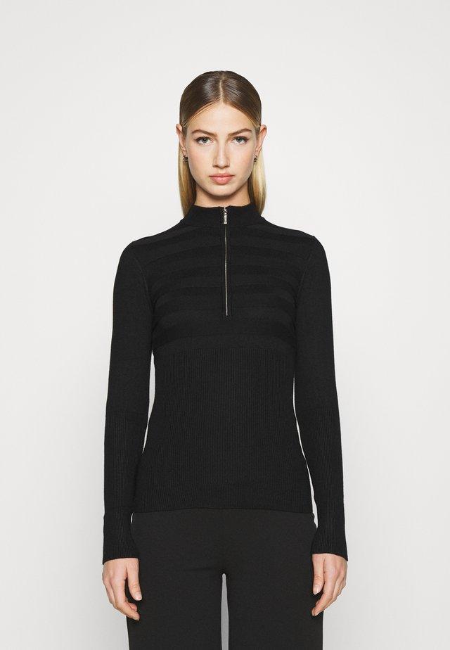 MENZIP - Stickad tröja - noir