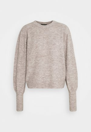 PCPAM O NECK - Strickpullover - warm taupe