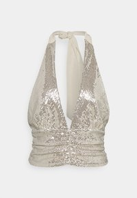 Gina Tricot - MULTIWAY GLITTER TOP - Top - beige - 5