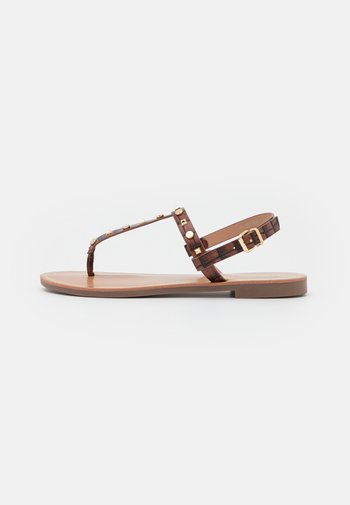 ONLMELLY STRUCTURE STUD  - T-bar sandals - brown