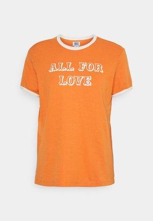 ALL FOR LOVE RINGER TEE - Triko spotiskem - orange