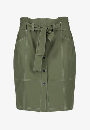 A-line skirt - botanical green