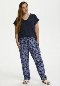 Kaffe Curve - Trousers - blue paisley print - 1
