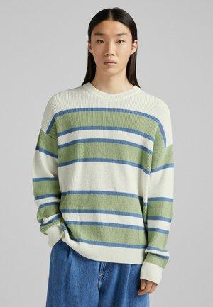 Jumper - white, light green, light blue