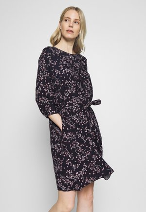 PRINTED FLOWER DRESS - Day dress - black