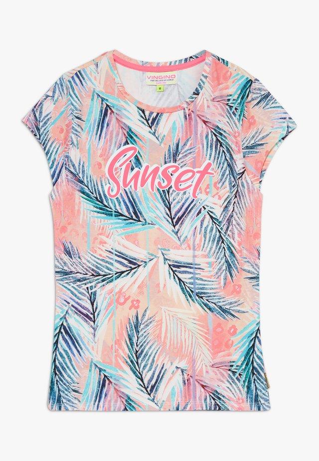 HOLISA - T-shirt z nadrukiem - neon pink