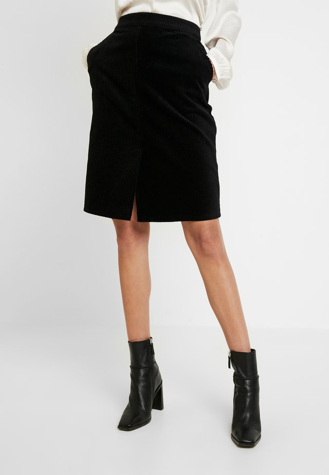 JANE MIDI SKIRT - Gonna a tubino - black