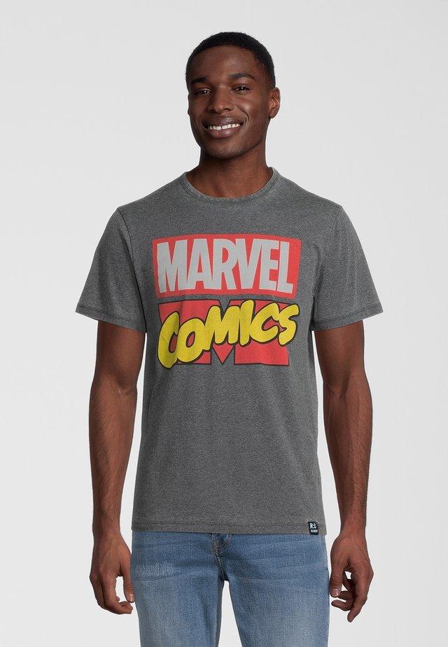 MARVEL COMICS - T-shirt med print - grau