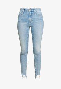 THE CHARLIE ANKLE DESTROYED HEM - Jeans Skinny Fit - plumeria