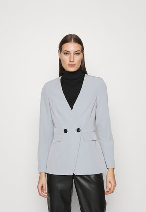 COLLARLESS JACKET - Blazer - grey