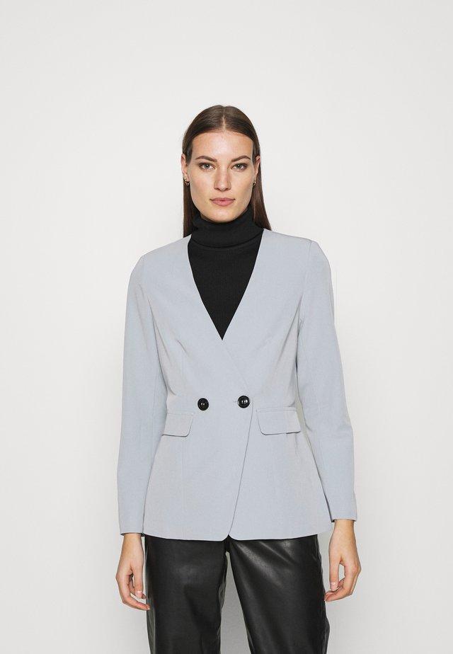 COLLARLESS JACKET - Blazer - grey
