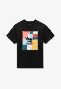 Vans - BY BOYS COLOUR BLOCK BOX SS - Print T-shirt - black - 0
