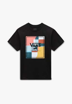BY BOYS COLOUR BLOCK BOX SS - T-shirt imprimé - black