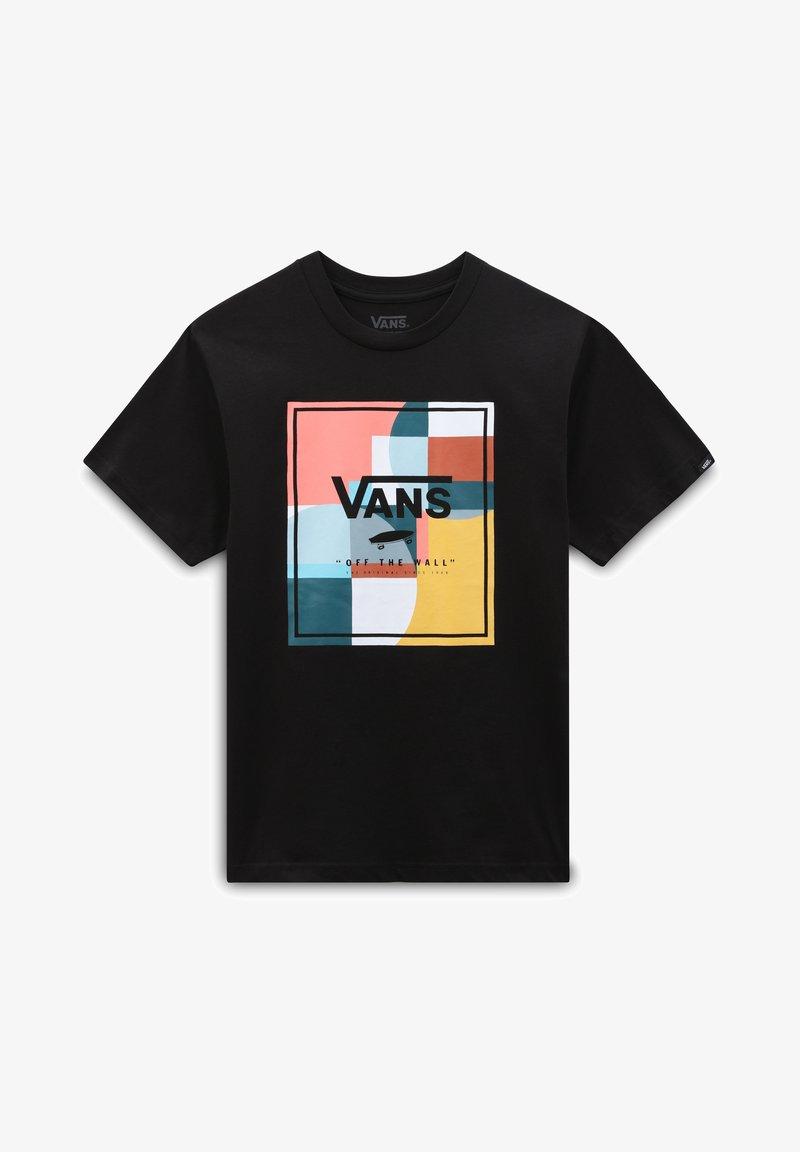 Vans - BY BOYS COLOUR BLOCK BOX SS - Print T-shirt - black
