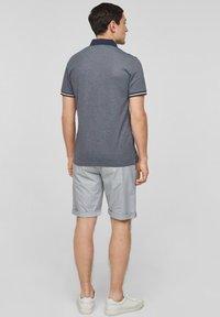 s.Oliver BLACK LABEL - MET GESTREEPTE BOORDJES - Polo shirt - dark blue melange - 2