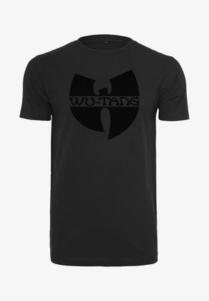 WU-WEAR BLACK LOGO - Print T-shirt - black
