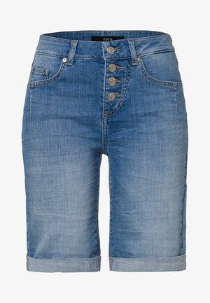 Denim shorts - light blue stone wash