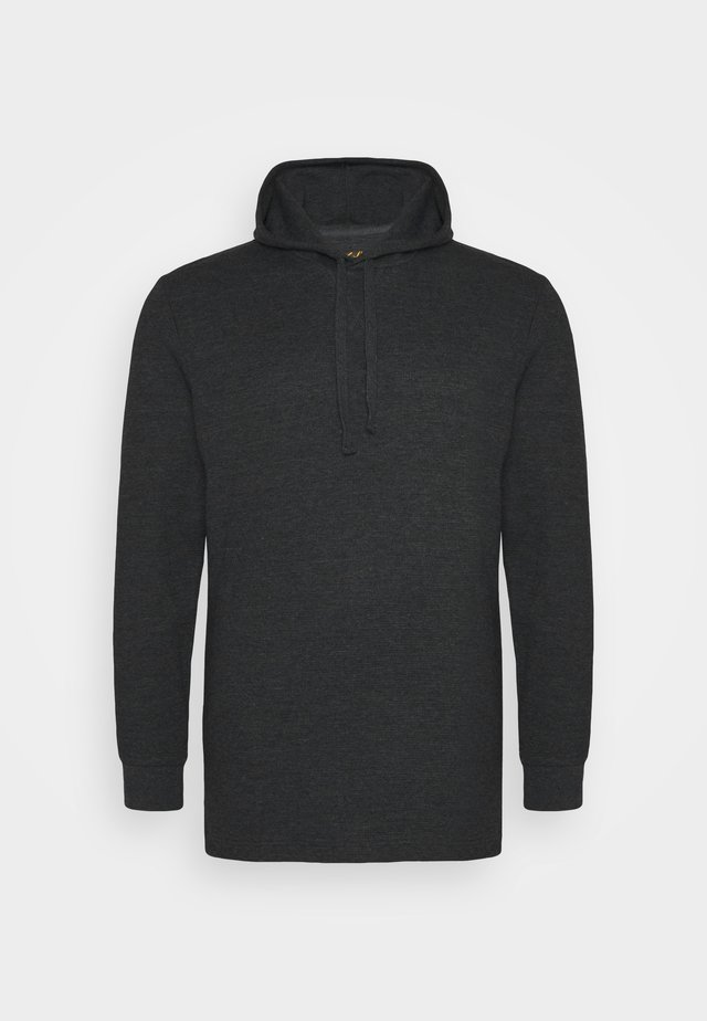 WAFFLE HOODED LONG SLEEVE - Strikkegenser - charcoal