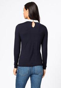 HALLHUBER - MIT BUBIKRAGEN AUS LENZING™-ECOVER - T-shirt à manches longues - dunkelblau - 1